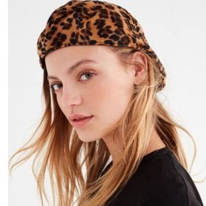 Leopard print Cabby Hat